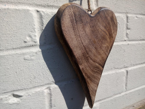Large Solid Wood Love Heart - Miss Artisan