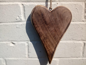 Miss Artisan - Large Solid Wood Love Heart - Rustic / Industrial / Vintage Handmade Furniture
