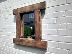 Miss Artisan - Reclaimed Solid Wood Rustic Mirror - Style 5 - Rustic / Industrial / Vintage Handmade Furniture