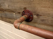 Load image into Gallery viewer, Miss Artisan - Rusty Old Copper Towel Rail - Rustic / Industrial / Vintage Handmade Furniture