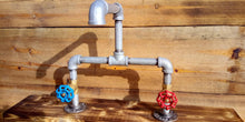 Laden Sie das Bild in den Galerie-Viewer, Galvanized Pipe Mixer Faucet Taps - Round Handle - Miss Artisan