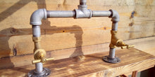 Laden Sie das Bild in den Galerie-Viewer, Galvanized Pipe Mixer Faucet Taps - Stopcock Handle - Miss Artisan
