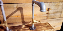 Load image into Gallery viewer, Miss Artisan - Pair Of Galvanized Faucet Taps - Stopcock Handles - Rustic / Industrial / Vintage Handmade Furniture