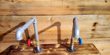 Load image into Gallery viewer, Pair Of Galvanized Faucet Taps - Round Handle - Miss Artisan