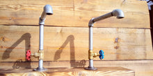 Load image into Gallery viewer, Miss Artisan - Pair Of Galvanized Faucet Taps - Round Handle - Rustic / Industrial / Vintage Handmade Furniture