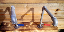 Load image into Gallery viewer, Pair Of Galvanized Faucet Taps - Lever Handle - Miss Artisan