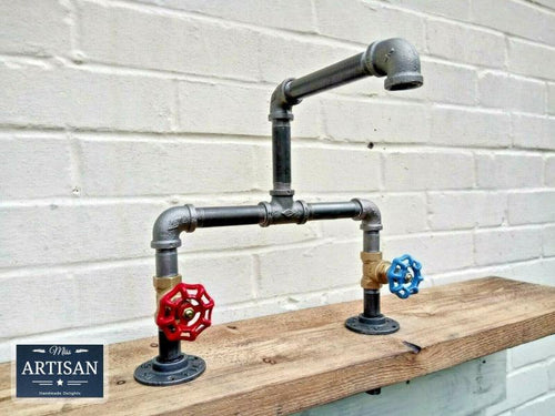 Cast Iron And Steel Mixer Faucet Taps - Miss Artisan