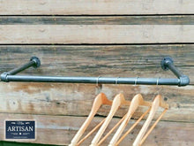Load image into Gallery viewer, Miss Artisan - Cast Iron / Steel Clothes Rail - Wall Mounted - Rustic / Industrial / Vintage Handmade Furniture