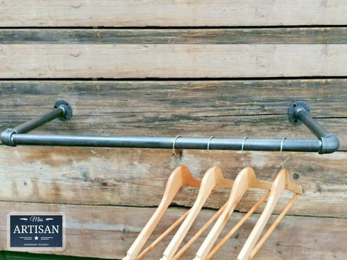 Miss Artisan - Cast Iron / Steel Clothes Rail - Wall Mounted - Rustic / Industrial / Vintage Handmade Furniture
