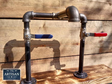 Load image into Gallery viewer, Miss Artisan - Cast Iron And Steel Mixer Faucet Taps - Raised Bowl - Lever Handle - Rustic / Industrial / Vintage Handmade Furniture