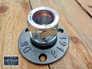 22mm Chrome Compression Flange Pipe Mount - Miss Artisan