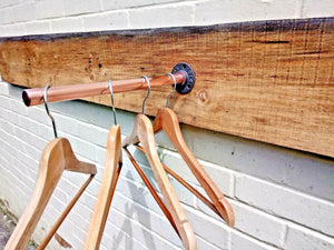Miss Artisan - Copper Pipe Clothes Rail - Rustic / Industrial / Vintage Handmade Furniture