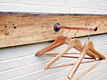 Load image into Gallery viewer, Miss Artisan - Copper Pipe Clothes Rail - Rustic / Industrial / Vintage Handmade Furniture