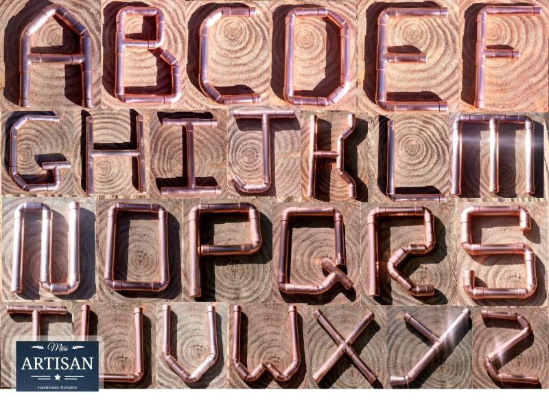 Miss Artisan - Copper Alphabet Letters - Rustic / Industrial / Vintage Handmade Furniture