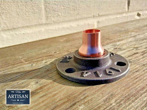 Miss Artisan - 15mm Copper Iron Floor / Wall Flange Pipe Mount - Rustic / Industrial / Vintage Handmade Furniture