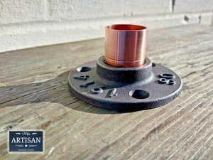 22mm Copper Iron Floor / Wall Flange Pipe Mount