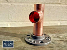 Load image into Gallery viewer, 22mm Copper Pipe Side Tee Flange
