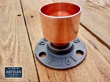 Load image into Gallery viewer, Miss Artisan - 35mm Copper Pipe Flange - Rustic / Industrial / Vintage Handmade Furniture