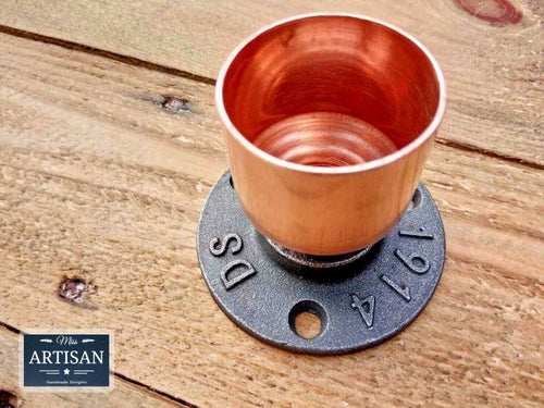 Miss Artisan - 42mm Copper Pipe Flange - Rustic / Industrial / Vintage Handmade Furniture