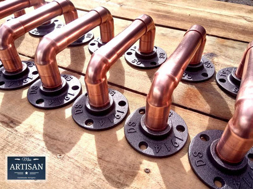 Miss Artisan - Copper Pipe Handles - Rustic / Industrial / Vintage Handmade Furniture