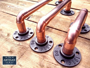 Copper Pipe Handles - Miss Artisan