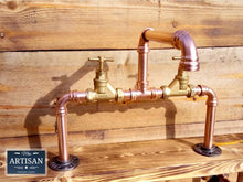 Load image into Gallery viewer, Miss Artisan - Copper Pipe Swivel Mixer Faucet Taps - Counter Top Bowl - Rustic / Industrial / Vintage Handmade Furniture