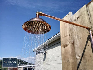 Miss Artisan - Copper Rainfall Shower With Sprayer - Rustic / Industrial / Vintage Handmade Furniture