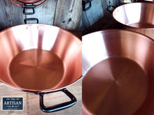 Load image into Gallery viewer, Pure 38cm Copper Jam / Cooking Pans - 9 Litre - Miss Artisan