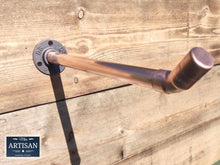 Load image into Gallery viewer, Miss Artisan - Angled Copper Pipe Clothes Rail - Rustic / Industrial / Vintage Handmade Furniture