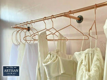 Charger l'image dans la galerie, Copper Pipe Clothes Rail - Wall Mounted - Miss Artisan