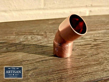 Load image into Gallery viewer, Miss Artisan - Copper 45 Degree Bends 15mm / 22mm / 28mm - Rustic / Industrial / Vintage Handmade Furniture