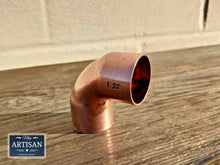 Load image into Gallery viewer, Miss Artisan - Copper Elbows 15mm / 22mm / 28mm - Rustic / Industrial / Vintage Handmade Furniture