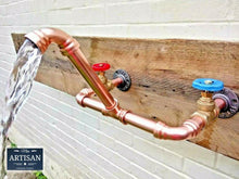 Load image into Gallery viewer, Wall Mounted Copper Pipe Mixer Faucet Taps - Miss Artisan
