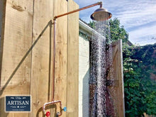 Load image into Gallery viewer, Miss Artisan - Copper Rainfall Shower - Rustic / Industrial / Vintage Handmade Furniture