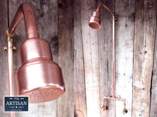 Load image into Gallery viewer, Miss Artisan - Exposed Copper Pipe Shower - Rustic / Industrial / Vintage Handmade Furniture