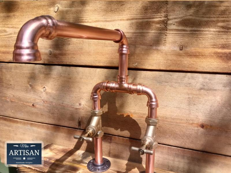 Copper Pipe Swivel Mixer Faucet Taps - Wide Reach - Miss Artisan