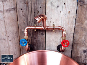 Wall Mounted Copper Pipe Mixer Faucet Taps - Miss Artisan