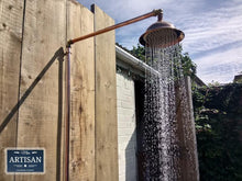 Load image into Gallery viewer, Miss Artisan - Single Handle Rainfall Copper Pipe Shower - Rustic / Industrial / Vintage Handmade Furniture