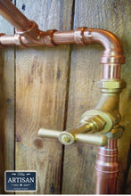 Load image into Gallery viewer, Miss Artisan - Freestanding Copper Bath Taps - Rustic / Industrial / Vintage Handmade Furniture