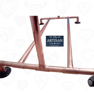 Miss Artisan - Freestanding Copper Clothes Rail - Rustic / Industrial / Vintage Handmade Furniture