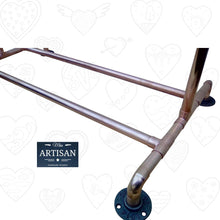 Load image into Gallery viewer, Miss Artisan - Freestanding Copper Clothes Rail - Rustic / Industrial / Vintage Handmade Furniture