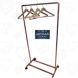 Freestanding Copper Clothes Rail - Miss Artisan