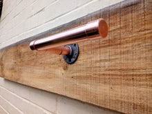 Load image into Gallery viewer, Miss Artisan - Copper Pipe Toilet Roll Holder - Rustic / Industrial / Vintage Handmade Furniture