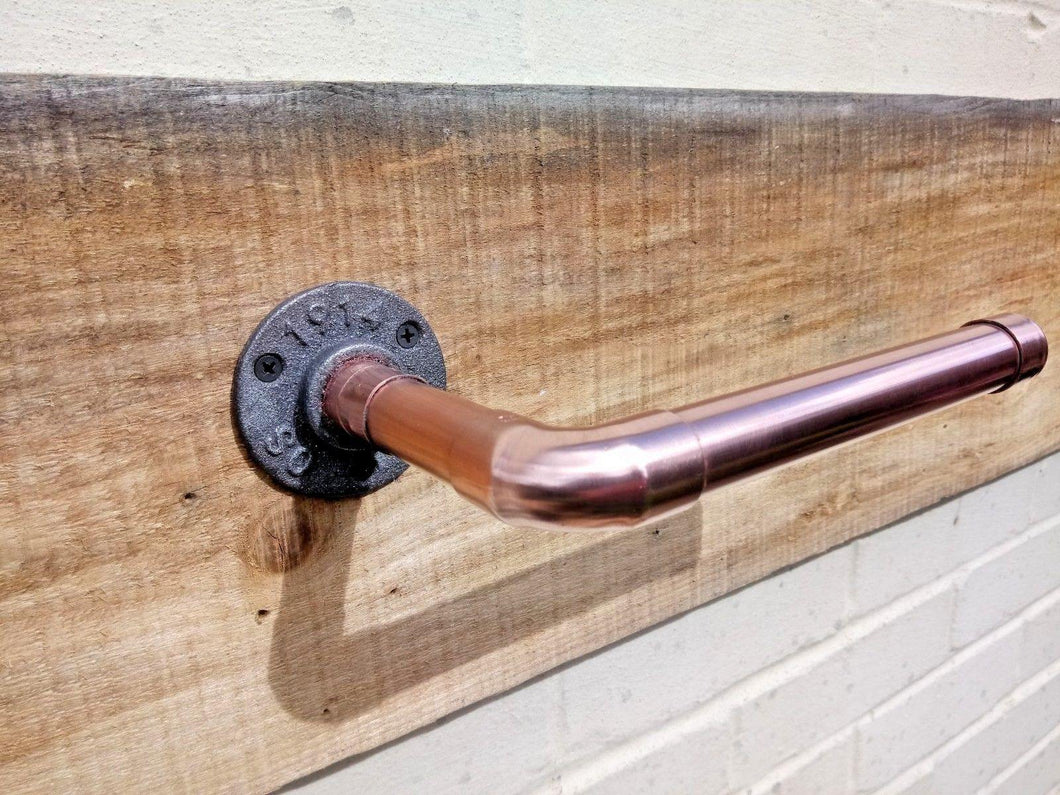 Miss Artisan - Copper Pipe Toilet Roll Holder - Rustic / Industrial / Vintage Handmade Furniture