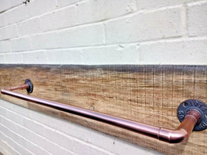 Miss Artisan - Copper Pipe Towel Rail - Rustic / Industrial / Vintage Handmade Furniture