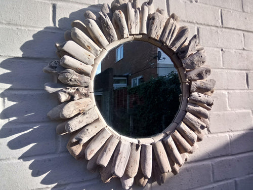 Miss Artisan - Large Round Driftwood Mirror - Rustic / Industrial / Vintage Handmade Furniture