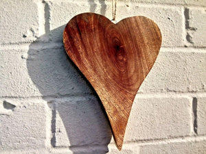 Large Solid Wood Heart - Miss Artisan