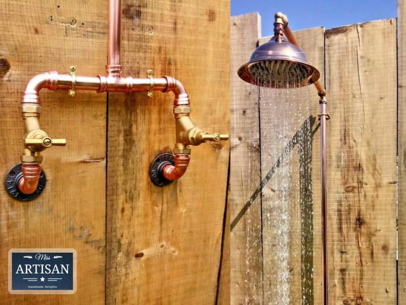 Miss Artisan - Copper Rainfall Shower - Rustic / Industrial / Vintage Handmade Furniture