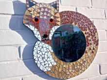 Load image into Gallery viewer, Miss Artisan - Large Mosaic Fox Mirror - Rustic / Industrial / Vintage Handmade Furniture