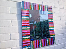 Load image into Gallery viewer, Miss Artisan - Large Rectangle Mosaic Rainbow Mirror - Rustic / Industrial / Vintage Handmade Furniture